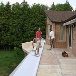 Duradek is applied ONLY through a network of trained installers